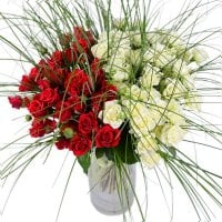 Bouquet Red and white