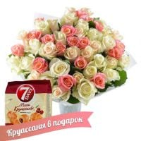 Bouquet �reamy tenderness (+croissants as a gift)