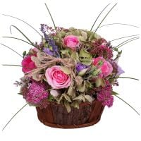 Buy delicate bouquet of roses �Lavender-pink dawn� with the best delivery