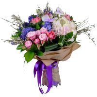 Buy beautiful bouquet with roses and orchids «Cerulean» with delivery