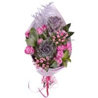 Order an alluring bouquet �Frosty freshness� with delivery