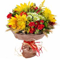 Buy colorful autumn flower bouquet «Smile of September» with delivery
