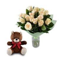 Buy sophisticated «Gentle gift (Roses +Teddy Bear)» with delivery
