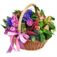 Order an unusual beautiful flower basket