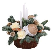 Order beautiful arrangement Christmas Evening