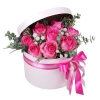Buy beautiful rose bouquet «Pink Evening» in online flower shop
