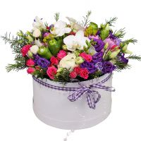 Order bright flower arrangement «Purple valley» with delivery.