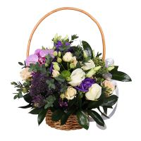 Bouquet Delightful Basket of Flowers