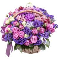 Order flower basket «Watercolor splashes» with delivery to any place in the world