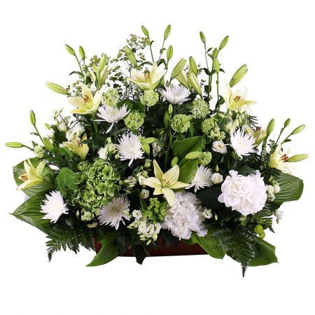 Bouquet «Basket of white flowers» - fast worldwide delivery