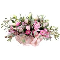 Order tender bouquet «Pink Lace» in online flower shop