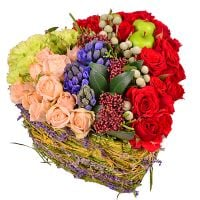 Arrangement �Heart for two� with delivery. Order flowers
