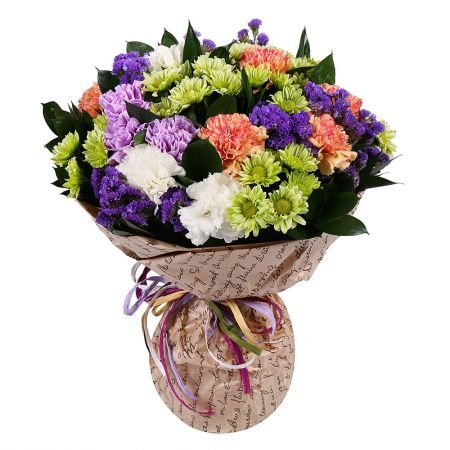Bouquet mix of colorful flowers with delivery