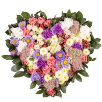 Order alluring heart-shaped floral arrangment �Gentle provence�. Delivery!