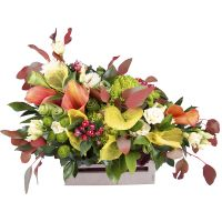 Buy original flower arrangement «Peach tandem» with delivery to any city