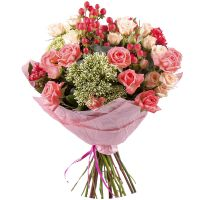 Order romantic bouquet �Pink� in the online shop with delivery