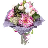 Order beautiful bouquet «Shakespeare's Sonnet» of soft shades. Delivery!