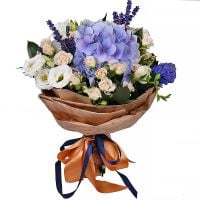Order subtle bouquet «Silk velvet» with delivery