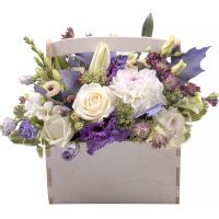 Buy a beautiful bouquet «Snow symphony» with delivery to any city.