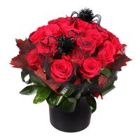 Order halloween flowers arrangements «Crimson Halloween» with delivery