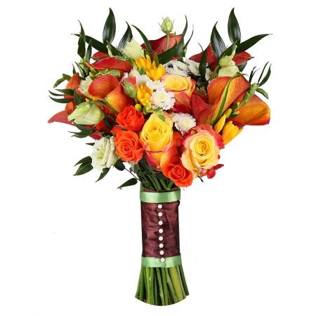 Order beautiful bridal bouquet «Autumn Melody» with delivery