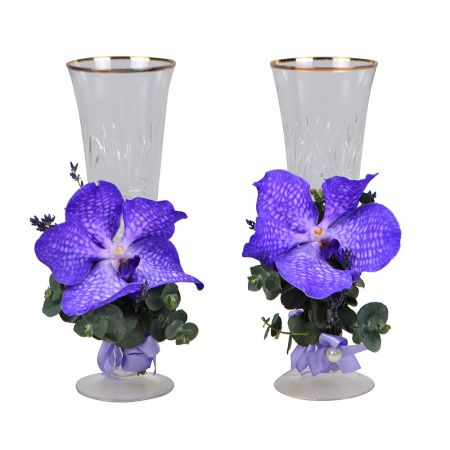 Product Flower decoration of glasses №3