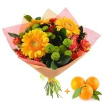 Bouquet «Autumn Mood», bouquet with oranges, bright bouquet