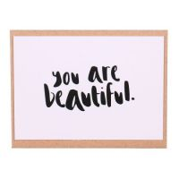 Card «You are beautiful»