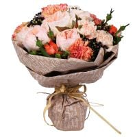 Buy sophisticated flower bouquet �Peach Sorbet� with delivery