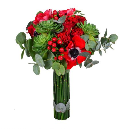 Romantic bouquet of roses «Paradise bird» with delivery