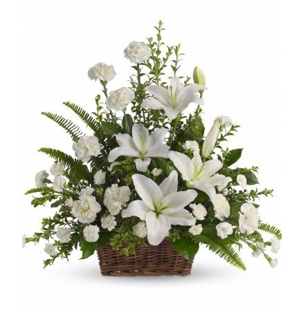 Bouquet Funeral Basket arrangement