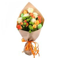Bouquet «Roses and green» | buy online