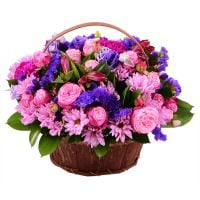 Bouquet Purple basket