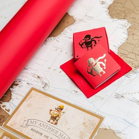 Order romantic Scratch Map: My Antique Map (in love) with delivery