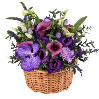 Order beautiful floral basket �Plum dessert� in internet shop. Reliable delivery!
