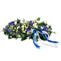 Order bouquet with roses «Blue and white cloud» with delivery