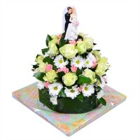 Bouquet Wedding flower cake