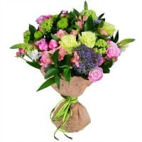 Buy beautiful pink and green bouquet «Fresh»