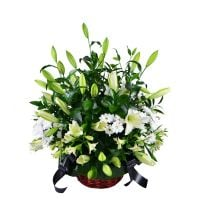 "Bouquet Funeral basket ""Emerald\"""