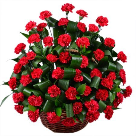 Bouquet Funeral basket of carnations
