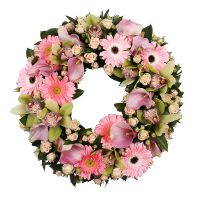 Bouquet Funeral Wreath for Young Girl