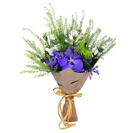 Buy orchid bouquet «Tricolored» in flower shop online