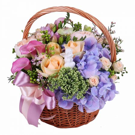 Buy fascinating bouquet of orchid �Flower Angel� with delivery