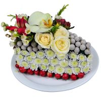 Buy delightful bouquet �Flower cake� with the best flower delivery