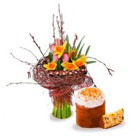 Order great Easter bouquet Easter bouquet «Coziness»