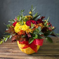 Order the bouquet «Bright autumn»  in our online shop. Delivery!
