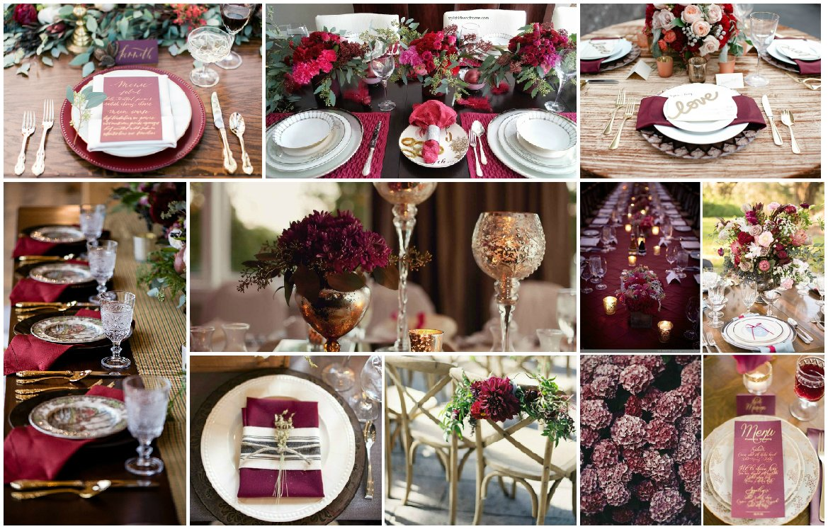 Luxury Wedding In Color Of Marsala