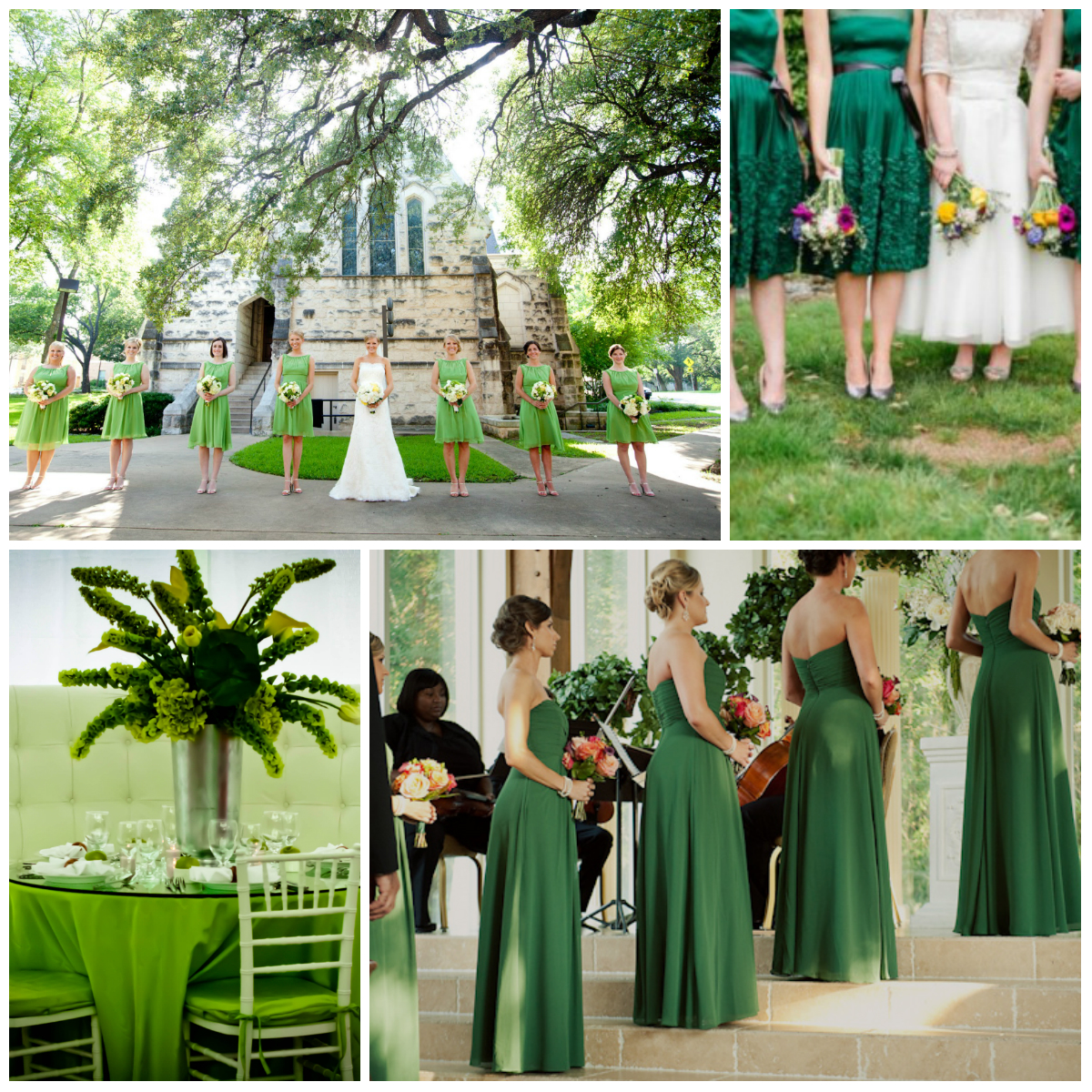 Green and yellow decor for weddings for Wedding ornaments