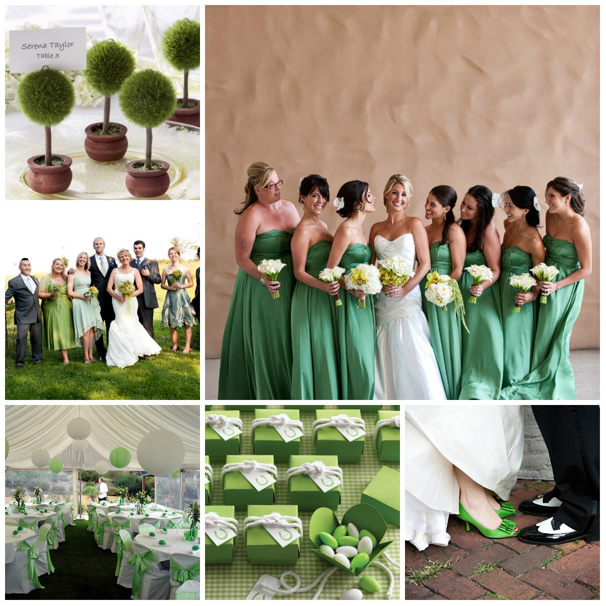 Wedding in green design from a to z for Wedding party decorations