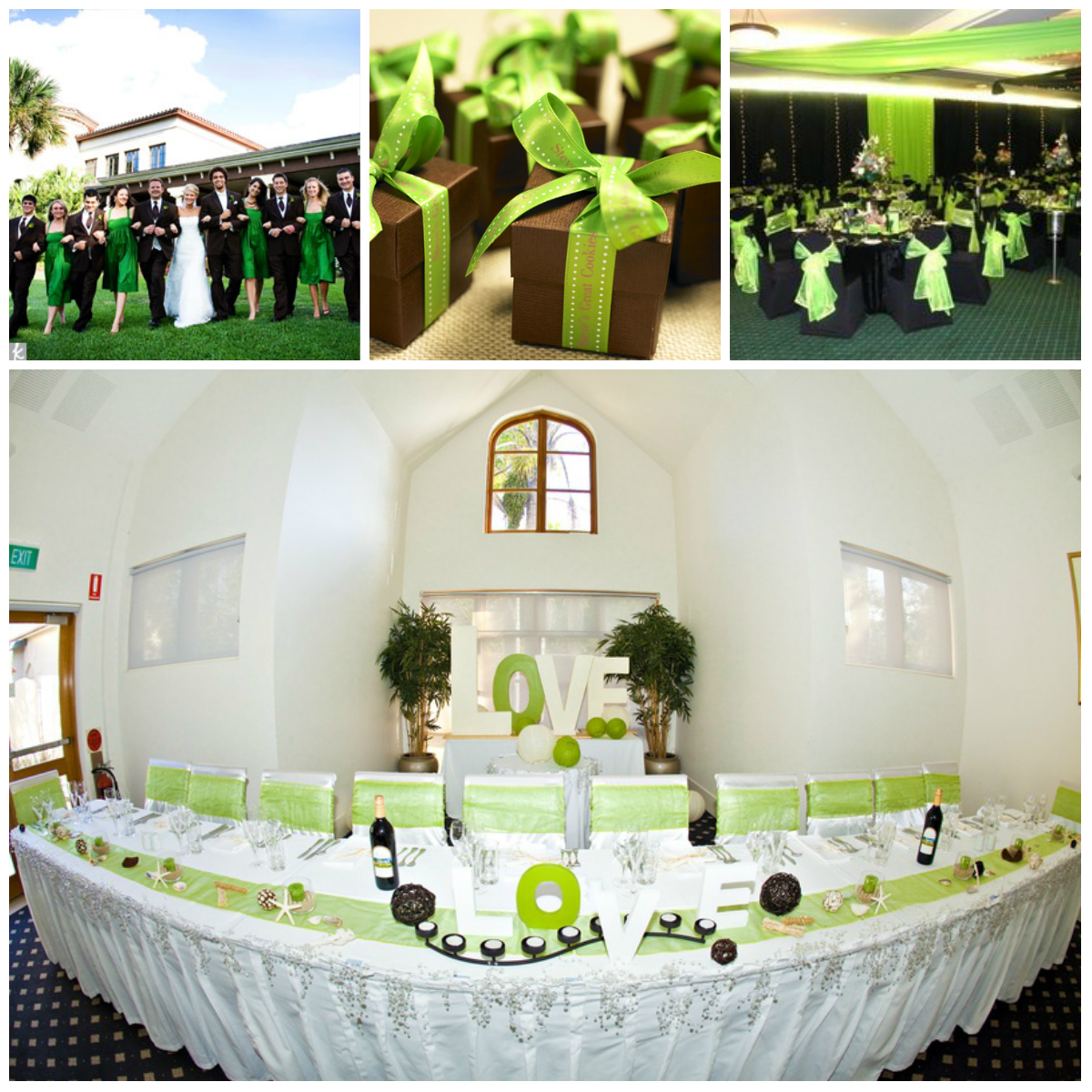 Wedding in green: design from A to Z